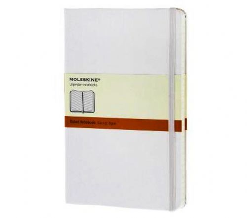 White Large Ruled Notebook
